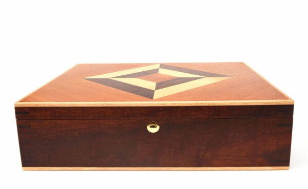 Jagath Prasantha Inlay Wooden Collectors Box Front