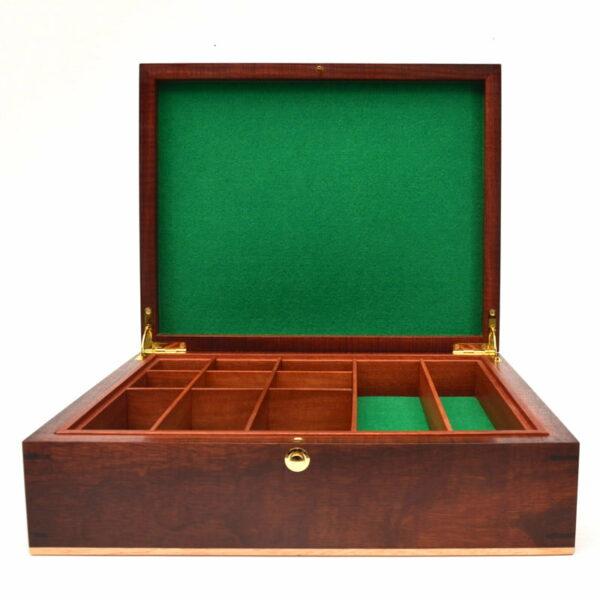 Jagath Prasantha Inlay Wooden Collectors Box Lid Open