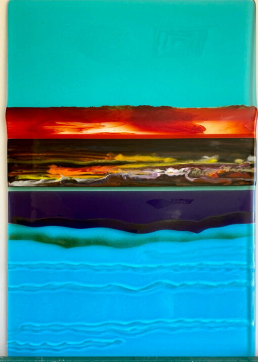 Margaret Heenan Natural Forces Glass Wall Panel