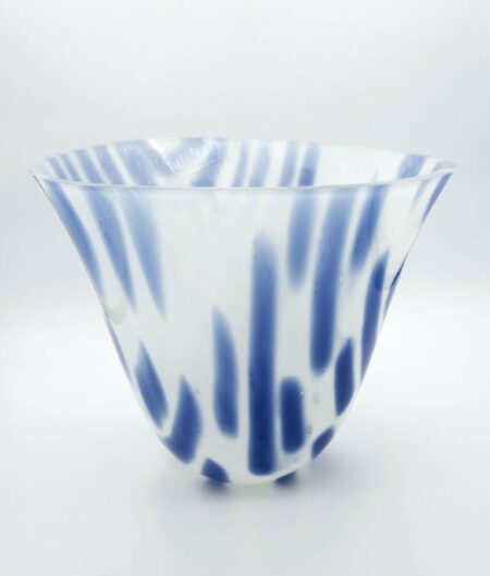 Silvana Ferrario Indigo Blue Of 1000 Years 15 Glass Bowl Siju6
