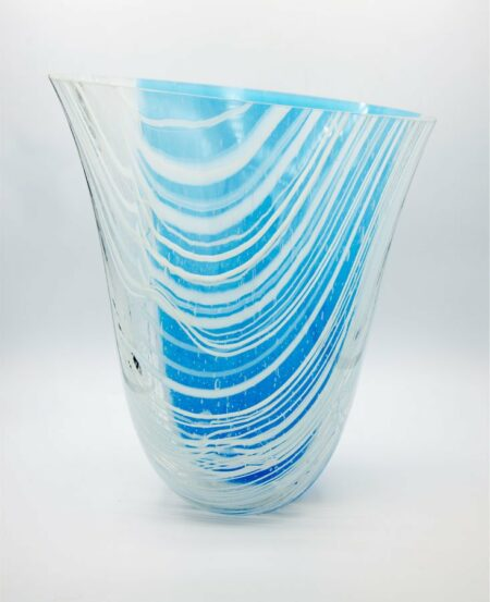 Silvana Ferrario Step Out Of Line 3 Glass Vase Siju16