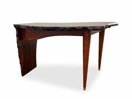Cascade Jarrah Burl Writing Table Jahroc Furniture Back View