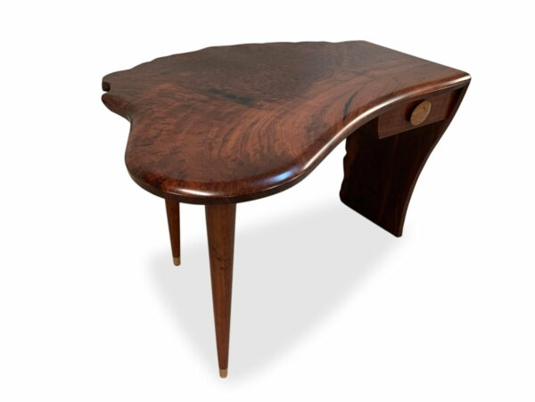 Cascade Jarrah Burl Writing Table Jahroc Furniture Top Side
