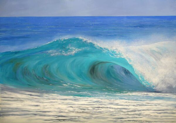 Leigh Hewson Bower Wave Study 2 Painting 1