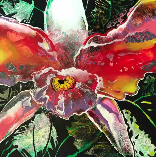 Astrid Dahl Orchid Love Painting 1
