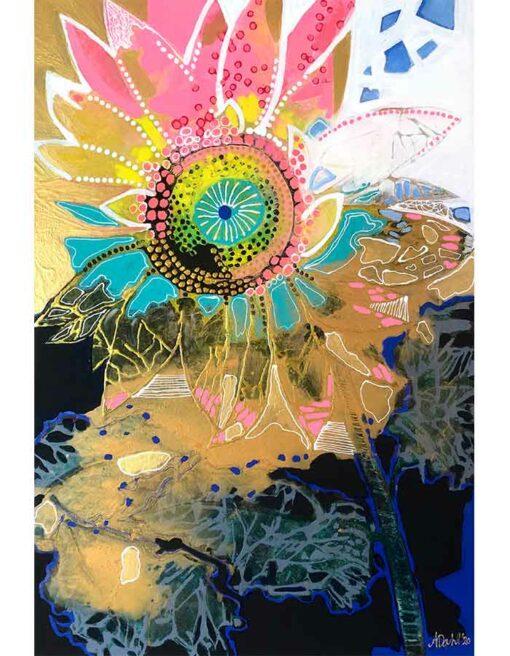 Astrid Dahl Sun Soaked Sunflower Painting