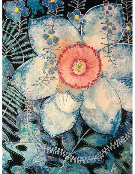 Astrid Dahl Sweet Magnolia I Love You Still Painting