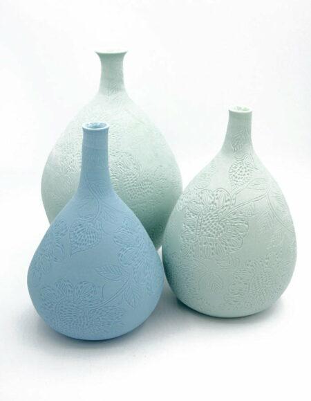 Dariya Gratte Carved Stem Vase Assorted Ceramics 1