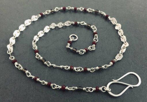 Emma Cotton Earthly Treasure Necklace Carnelian And Smokey Quartz