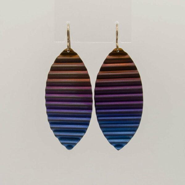 Amilia Adams Corrugated Titanium Earings