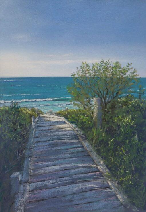 Ann Steer Beach Boardwalk Bunker Bay Painting