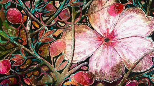 Astrid Dahl Cherry Blossom Painting Landscape