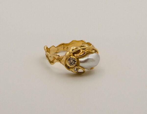 Broome Keshi And Diamond Ring Soklich Side
