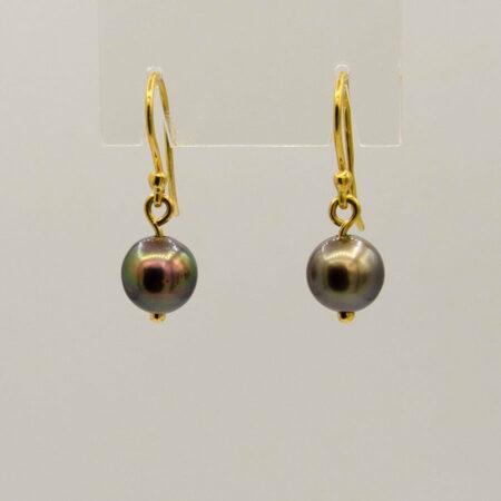 Gemma Baker Abrolhos Black Pearl Drop Earings