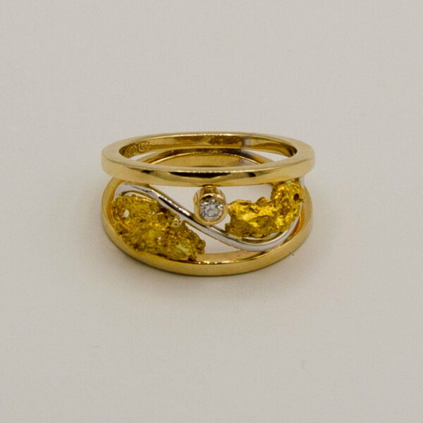 Gold Nugget And Diamond Ring Soklich