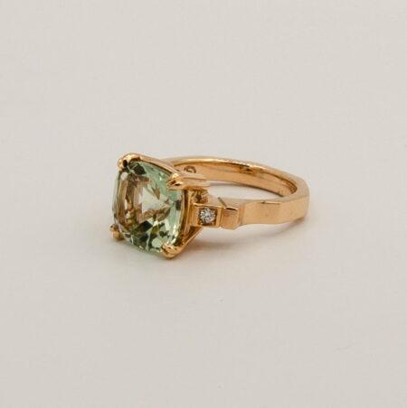 Green Amethyst Cushion Cut Ring By Soklichjpg