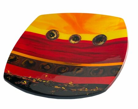 Margaret Heenan Sunset Ridge Square Glass Platter