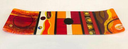 Margaret Heenan You Are The Sun Art Glass Platter