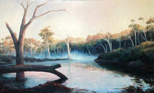 Peter Scott Morning Reflection Margaret River Painting