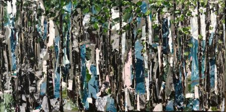 Felicia Aroney Moonlight Forest Painting