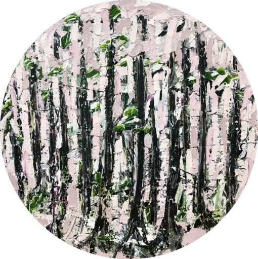 Felicia Aroney Pink Forest Painting