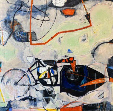 Geoff Wake Imaginary Motorcycle Journeys Painting