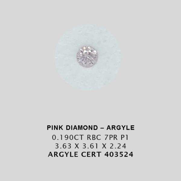 Jah14 Cert 403524 0 190Ct 7Pr Argyle Pink Diamond