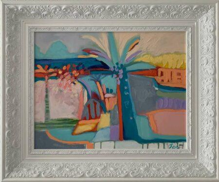 Jos Myers Beaulieu Sur Mer Original Painting In Frame