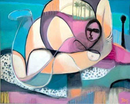 Jos Myers Cap D Ail My Love Original Painting