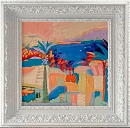Jos Myers Cap Ferrat Original Painting In Frame