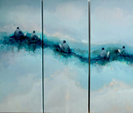 Jos Myers Surfers Tryptych Panels 1 2 3