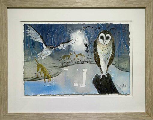 Judy Prosser Night Watch Painting Framed