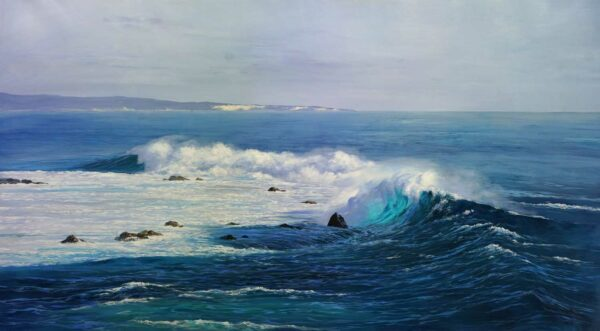 Leigh Hewson Bower South To Cape Clairault Painting