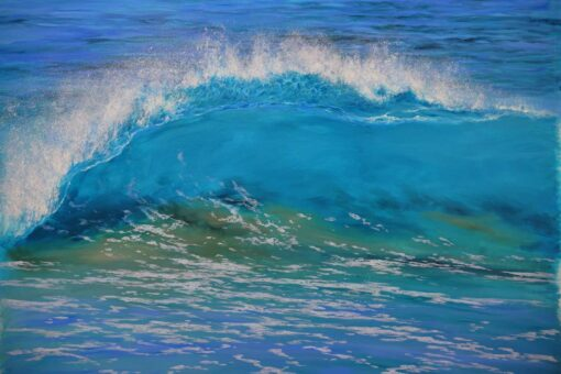Leigh Hewson Bower Wave Study Painting