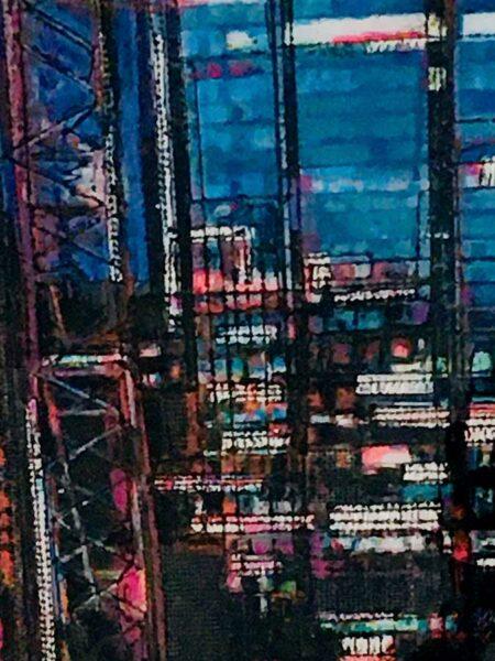 Narelle Pendlebury Aqua Night Painting