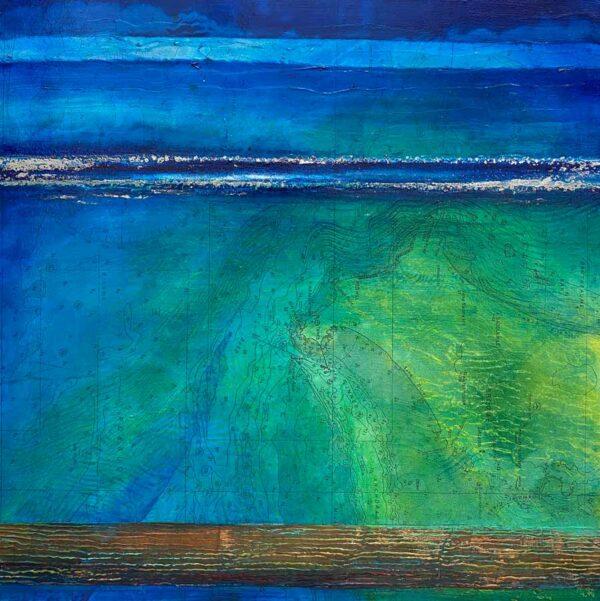 Narelle Pendlebury Broome Blues Painting