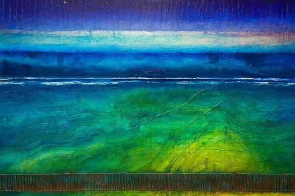 Narelle Pendlebury Cape To Cape Aqua Painting