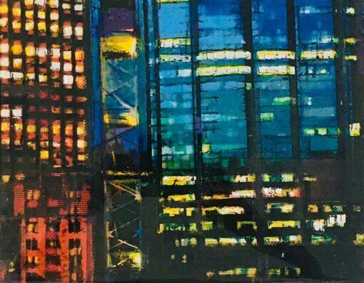 Narelle Pendlebury City Grid Painting