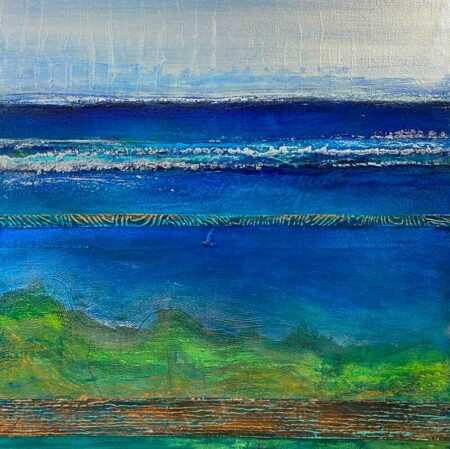 Narelle Pendlebury Peaceful Bay Silver Painting