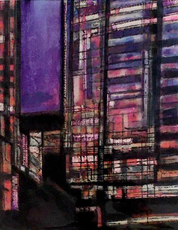 Narelle Pendlebury Purple Night Painting