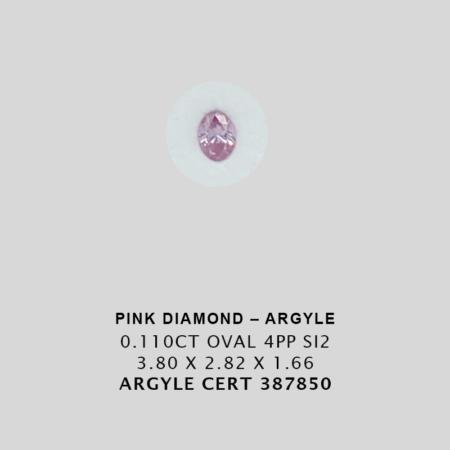 Pink1153 Cert 387850 0 110ct 4pp Oval Argyle Pink Diamond