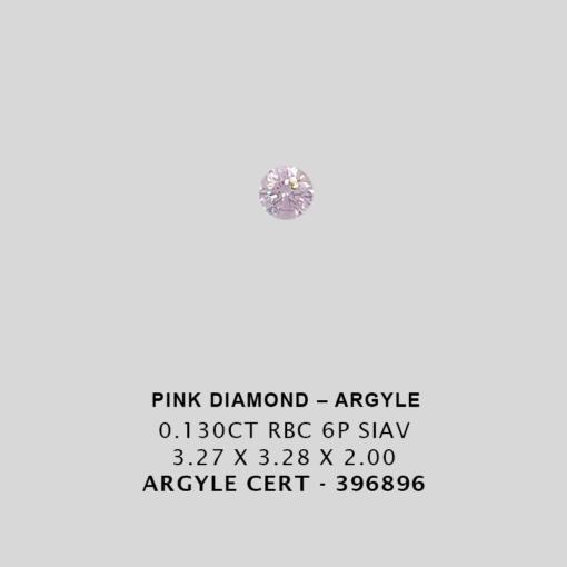 Pink1312 Cert 396896 0 130Ct 6P Argyle Pink Diamond 1