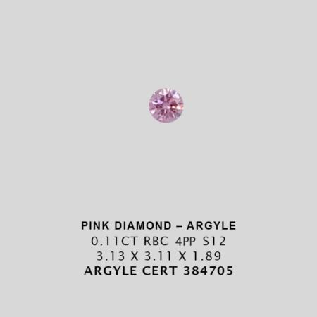 Pink1532 Cert 384705 0 110ct 4pp Round Argyle Pink Diamond