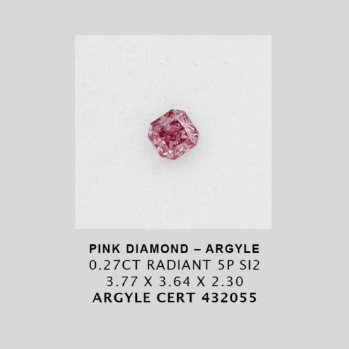 Pink1565 Cert 432055 0 270Ct Radiant 5P