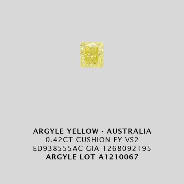 Yec666 0 420Ct Cushion Cut Fy Vs2 Argyle Yellow Diamond Lot Au1210067 1