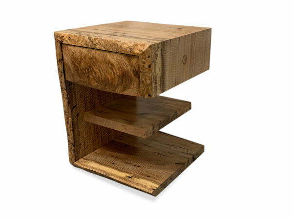 Geograph Bedside Table By Jahroc Furniture In Marri