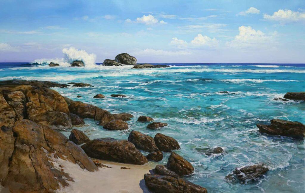 Leigh Hewson Bower Redate Beach Painting