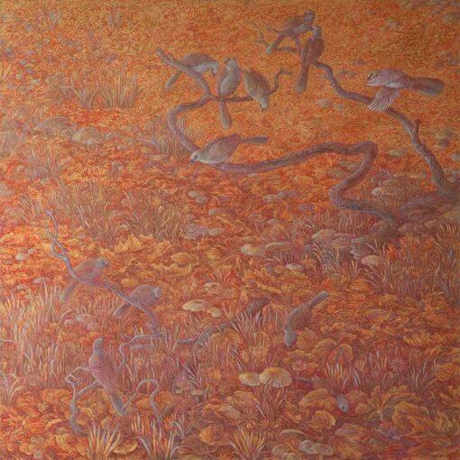 Donald Green Autumn Path Painting