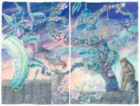 Donald Green Haiku Tapestry Painting