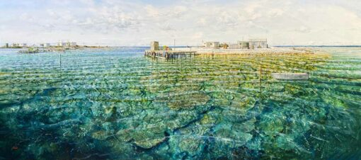 Larry Mitchell The Nook Abrolhos Islands Oil Painting